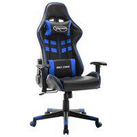 vidaXL Καρέκλα Gaming Μαύρο/Μπλε από Συνθετικό Δέρμα
