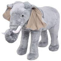 vidaXL Παιχνίδι Ελέφαντας σε Όρθια Στάση Γκρι XXL Λούτρινος
