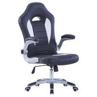 vidaXL Καρέκλα Gaming Μαύρη από Συνθετικό Δέρμα