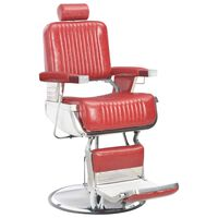 vidaXL Πολυθρόνα Κουρείου Κόκκινη 68 x 69 x 116 εκ. Συνθετικό Δέρμα