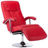 vidaXL Πολυθρόνα Κόκκινη από Συνθετικό Δέρμα